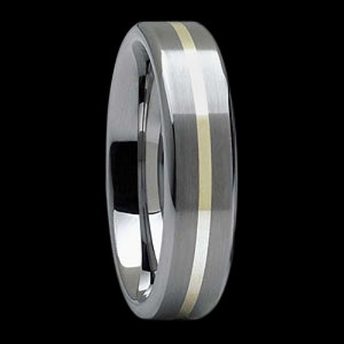 Jewelry - Gold Inlay and Tungsten Rings TU142J