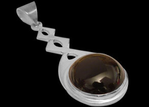 Onyx and Sterling Silver Pendant MP030B