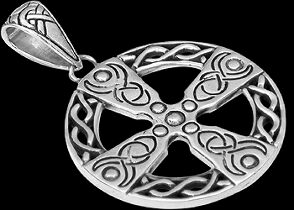 Celtic Jewelry - Sterling Silver Pendants P6006 - Celtic Cross