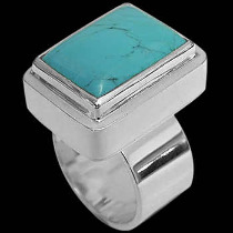 Turquoise and .925 Sterling Silver Rings MR02