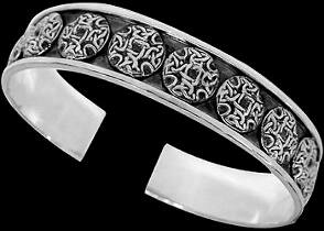 Groomsmens Gift: Sterling Silver Celtic Knot Cuff Bracelets BR200