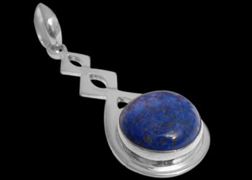 Lapis Lazuli and .925 Sterling Silver Pendant MP030B