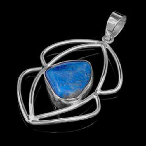 Lapis Lazuli and .925 Sterling Silver Pendant 12