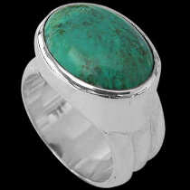 Men's Jewelry - Turquoise and .925 Sterling Silver Rings MR15tq