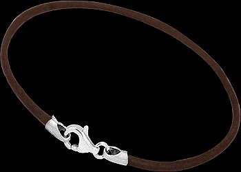 Dark Brown Leather and Sterling Silver Bracelets LB113