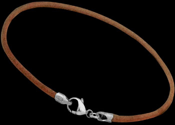 Light Brown Leather and Sterling Silver Bracelets LB118