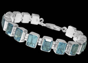 Topaz and Sterling Silver Bracelets B2