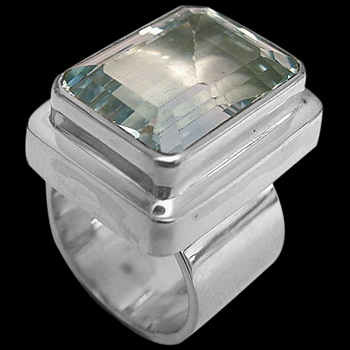 Topaz and Sterling Silver Ring - MR02