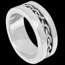 Silver Wedding Bands - Sterling Silver Rings R2-102479