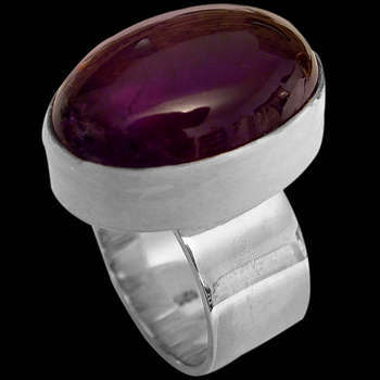 Amethyst and Sterling Silver Rings MR10