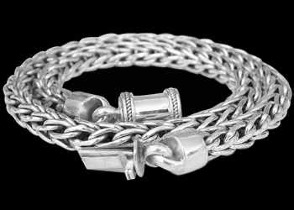 Celtic Jewelry - Sterling Silver Necklaces N320B - 7mm - Barrel Clasp