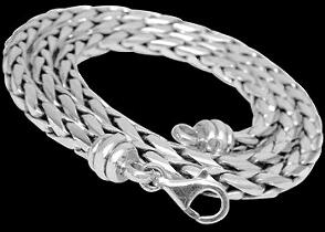Celtic Jewelry - Sterling Silver Necklace N303L - 6mm - Lobster Clasp