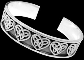 Celtic Jewelry - Sterling Silver Cuff Bracelets - Celtic Bracelet  BR1-512