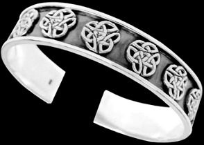 Celtic Jewelry - Sterling Silver Cuff Bracelets - Celtic Bracelet  BR1-503