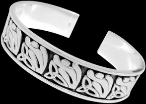 Celtic Jewelry - Sterling Silver Cuff Bracelets - Celtic Bracelet  BR1-516