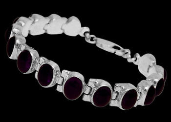 Amethyst and Sterling Silver Bracelets B1