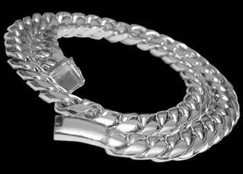 Mens Jewellery - .925 Sterling Silver Link Necklaces N360 - 15mm - Security Clasp