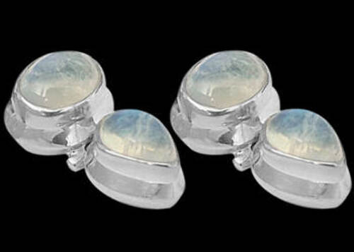 Bridesmaids Jewelry - Rainbow Moonstone and Sterling Silver Earrings ES334