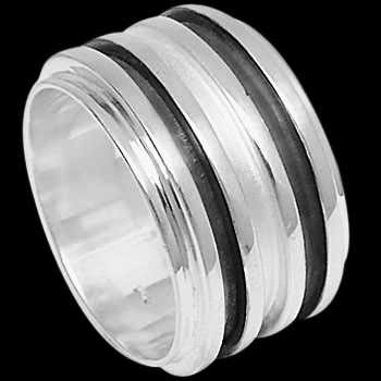 Mens Jewelry - Sterling Silver Rings R1-10211ANSP