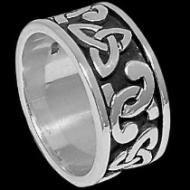 Celtic Jewelry - .925 Sterling Silver Rings - Celtic Triquetra Bands Celtic I