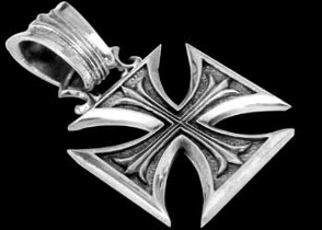 Religious Jewelry - Sterling Silver Maltese Cross Pendants P302