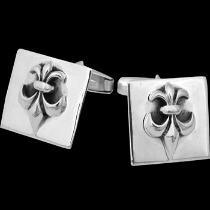 Silver Jewelry - .925 Sterling Silver Fluer De Lis Cuff Links CF5511