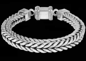 Father's Day Jewelry Gift - Sterling Silver Bracelets B738B - 7mm - Barrel Clasp