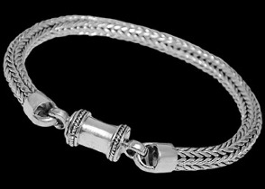 Father's Day Jewelry Gift - Sterling Silver Bracelets B011B - 6mm - Barrel Clasp