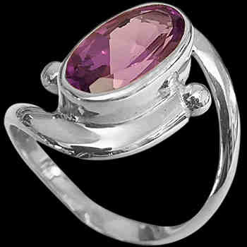 Amethyst and Sterling Silver Rings MR22