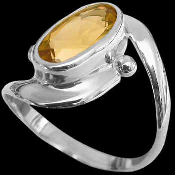 Citrine and Sterling Silver Rings MR22