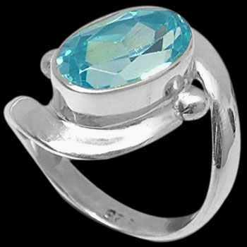 Blue Topaz and Sterling Silver Rings MR22