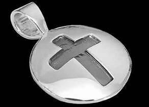 Sterling Silver Circle Cross Pendant 1