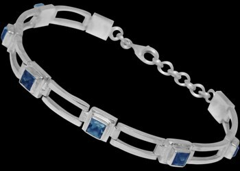 Topaz and .925 Sterling Silver Anklets MA16