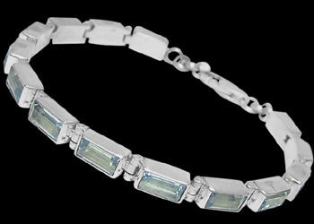 Topaz and Sterling Silver Bracelets B3