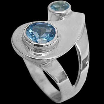 Topaz and Sterling Silver Rings MR21