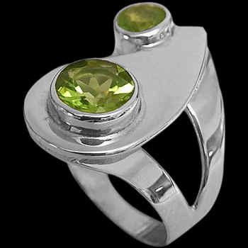 Peridot and Sterling Silver Rings MR21