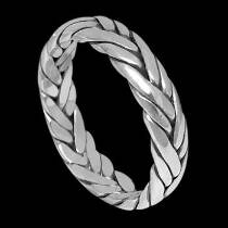 Plus Size Jewelry - Sterling Silver Rings - Woven Celtic Braid Band R1-10047L - Plus Sizes