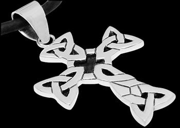 Sterling Silver Trinity Knot Celtic Cross Pendants PE C 50