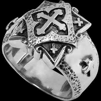 Celtic Jewelry - .925 Sterling Silver Rings - Celtic Cross Bands R101