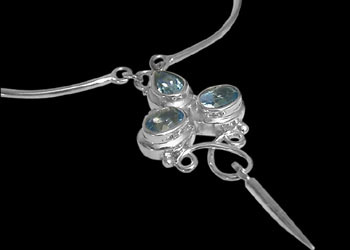 Topaz and Sterling Silver Necklaces N76
