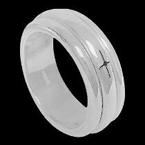 Silver Jewelry - .925 Sterling Silver Spinning Rings R1-10053
