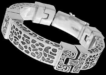 Gothic Jewelry - .925 Sterling Silver Bracelets B5984 - 12mm - Security Clasp