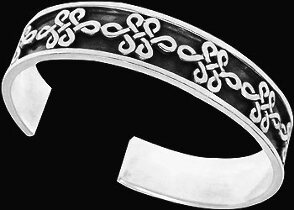 Celtic Jewelry - .925 Sterling Silver Celtic Knot Cuff Bracelets II