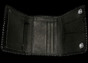 Leather Wallets - Black Sharkskin and Blue Stingray Leather Wallet  LW146