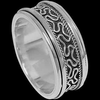 Plus Size Jewelry - Sterling Silver Meditation Rings R1-10173L - Plus Sizes
