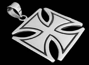 Nordic Jewellery - .925 Sterling Silver Cross Pendants ACpe580