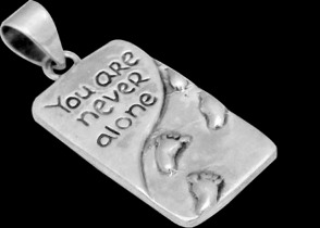 Jewelry - .925 Sterling Silver 'Your Never Alone' Pendants MP809
