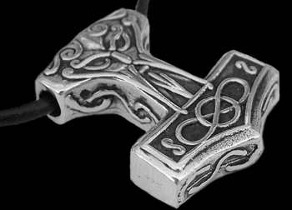 Nordic Jewelry - .925 Sterling Silver Hammer Pendants ACpe542
