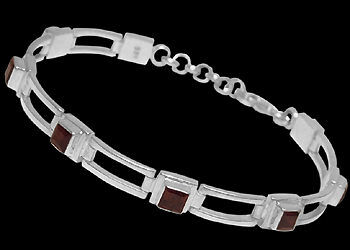 Garnet and .925 Sterling Silver Anklets MA16