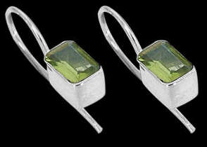 Peridot and .925 Sterling Silver Earrings ES385
